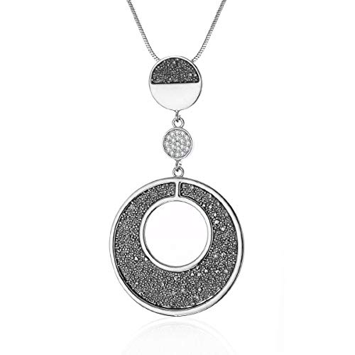 Ouran Mujer Unisex Hombre Gold and silver plated chapado en plata Black incoloro Cubic Zirconia