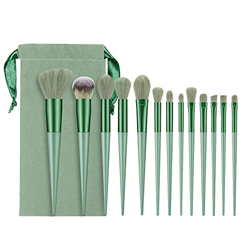 Poachers 13 Pcs Makeup Brushes Set for Women Candy Color Quick Drying Soft Bristles Eye Shadow Brush Mascara Blending Face Cream Powder Buffing Blush Liquid Concealers Cosmetics Kits Tools