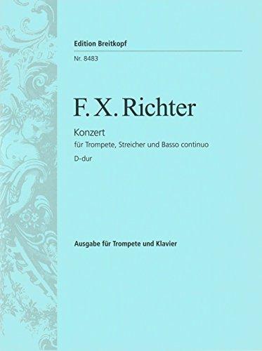 Trompetenkonzert D-dur - Ausgasbe für Trompete und Klavier (EB 8483 )