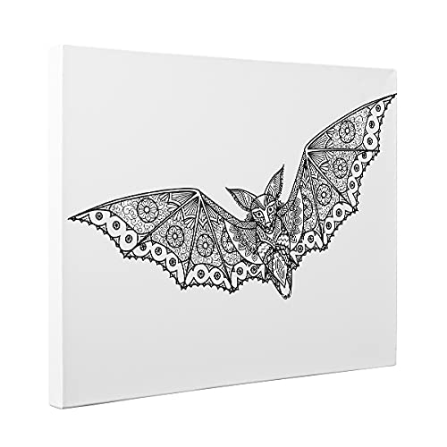Bat Charlotte Mall Now on sale Coloring Canvas Décor Home