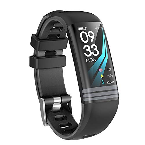 YUYLE Smartwatches Fitnessarmband bloeddrukG26S GPS Activity Tracker Smart Armband Waterdicht IP67 hartslagmonitor stappenteller Smart Band, Blanco Y Gris