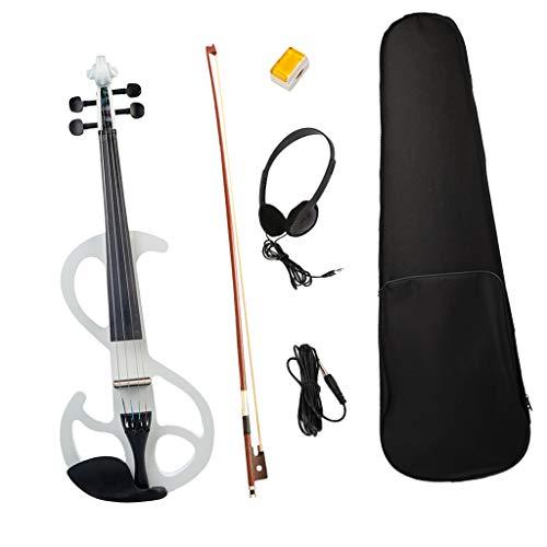 Almencla Corpo per Violino Elettrico Silent Wood a Grandezza Naturale 4/4 Con Scatola Degli Accessori