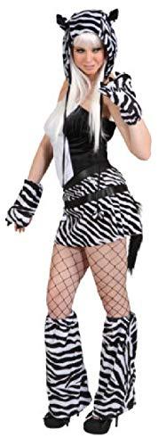 narrenkiste O9747-40-42 - Disfraz de cebra para mujer, talla 40-42, color blanco y negro