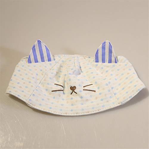 mlpnko Neue Baumwolle Baby Hut Baby Cartoon Kopf Kappe 0-5 Monate Hut blau 0-5 Monate