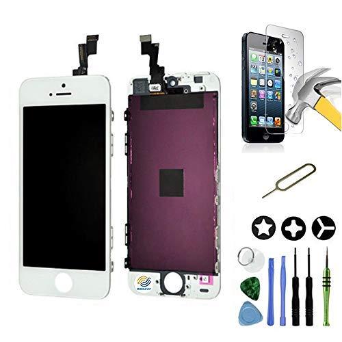 Mobilevie Ecran LCD Retina + Vitre Tactile sur châssis pour Iphone Se Blanc + Outils