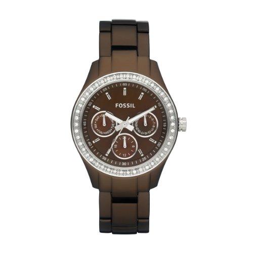 Fossil Damen-Armbanduhr Stella Multifunktion Analog Quarz Aluminium ES2949