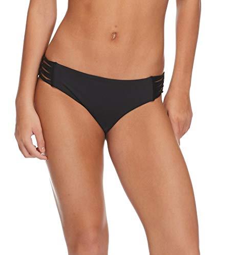 Body Glove Women's Ruby Solid Bikini Bottom Swimsuit, Smoothies Black, X-Large