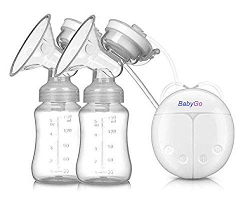 BabyGo Automatic Electric BPA-Free Double Breast Pump with Dual Mode (White)