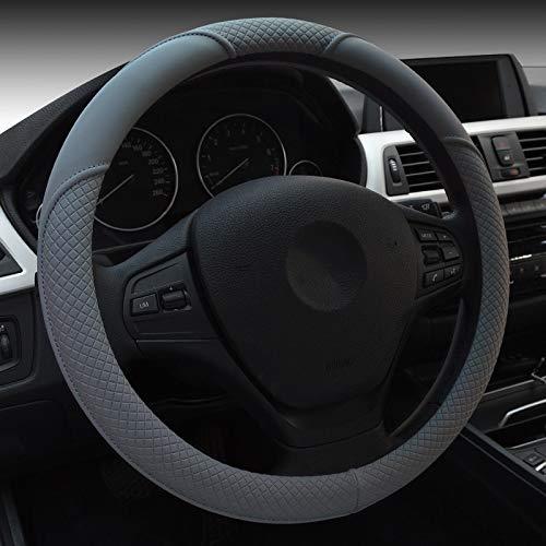 HCMAX Mikrofaser Weich Fahrzeug Lenkradabdeckung Bequem Auto Lenkradschutz Universal Durchmesser 38cm (15