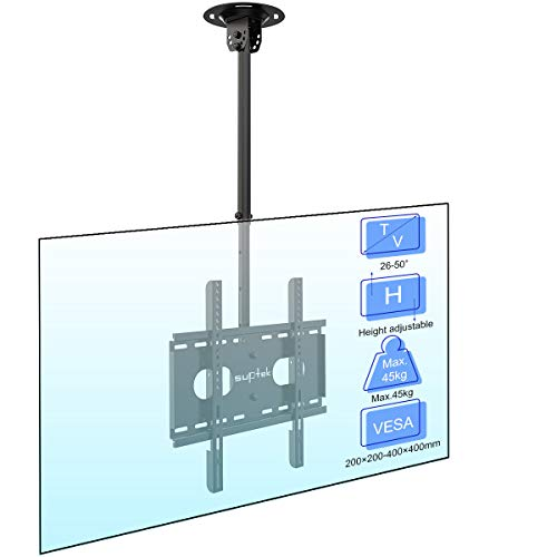 Suptek Ceiling TV Wall Mount Fits Most 26-50