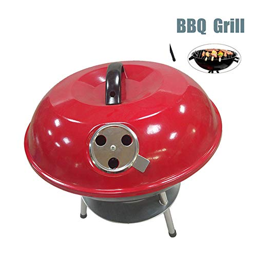 WXJHA Haushalt Einfach Grill Barbecue Grill Holzkohle, Außen Picknick Grill Barbecue Grill Pot Tisch Picknick Kochen Raucher Family Party Camping