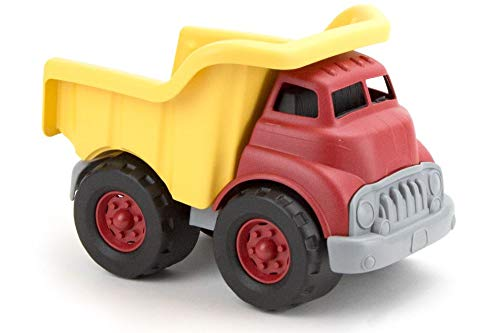 Green Toys Dump Truck, Red/Yellow CB - Pretend Play, Motor Skills, Kids Toy Vehicle. No BPA, phthalates, PVC. Dishwasher Safe, Recycled Plastic, Made in USA.
