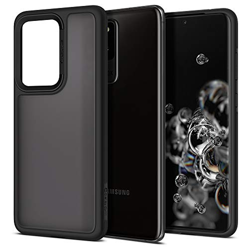 CYRILL Funda Spigen Color Brick Compatible con Samsung Galaxy S20 Ultra, (2020) (6,9 Pulgadas), Mate, Parte Trasera de policarbonato Semitransparente con TPU Suave, Color Negro