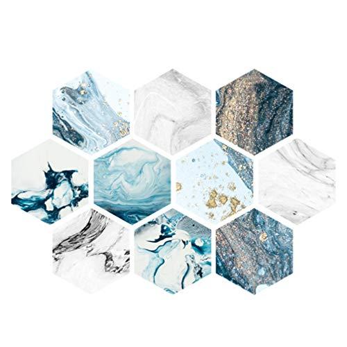OSALADI Etiqueta Adhesiva de Baldosa Hexagonal Pelar Y Pegar Placa para Salpicaduras de Azulejos Etiqueta de Pared Autoadhesiva Etiqueta de Piso Antideslizante para Sala de Estar del