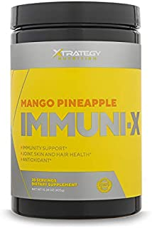 XTRATEGY Nutrition IMMUNI-X Improve Immune System Mango Pineapple Joint,Skin, Hair Health and Antioxidant
