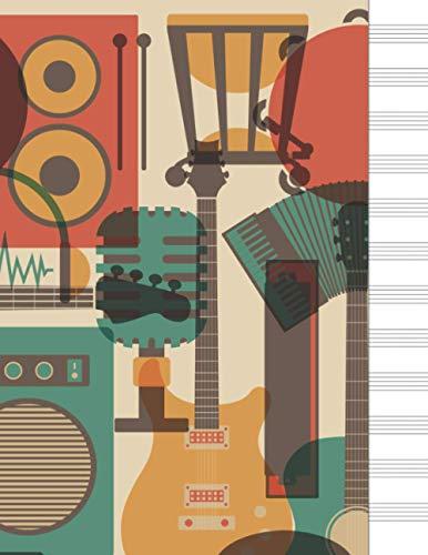 Cuaderno de música: cuaderno de musica pentagrama