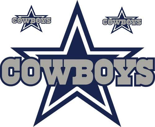 Dallas Star Stickers Team Colors (Any Size) Dallas Cowboy Stickers Decal Vinyl for car bamper, hemlet, Laptop, tumblers (12 Inch)