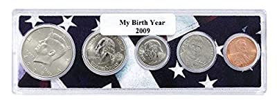 2009-5 Coin Birth Year Set in American Flag Holder Uncirculated