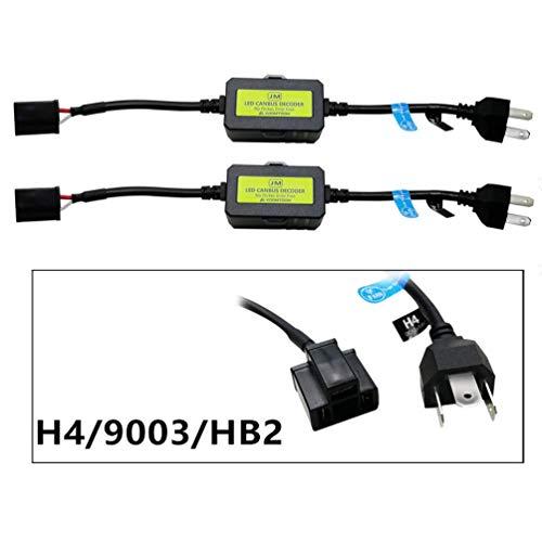 KOOMTOOM H4/9003 LED Decoder Resistor Adaptateur de harnais Canbus pour ampoules de phares Erreur d'avertissement CMC Canceler Decoder (H4)