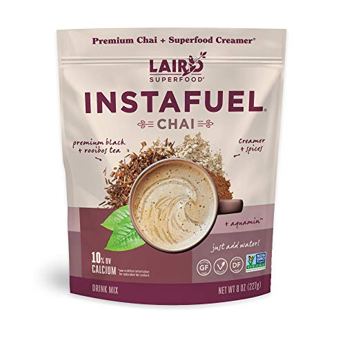 Laird Superfood Instafuel Chai Latte Powder - Delicious Mix of Instant Chai Tea and Our Original Superfood Non-Dairy Creamer, 8oz Bag
