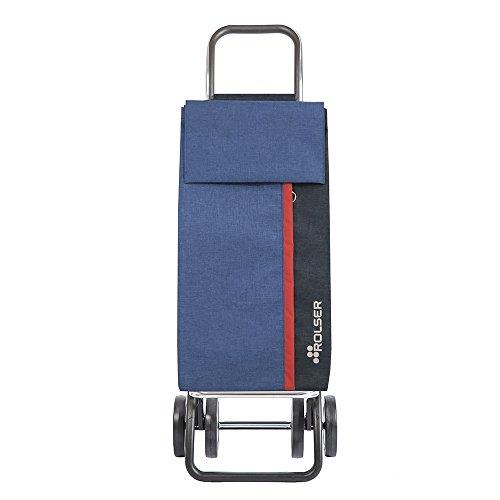Rolser Carro de Compra Kangaroo KAN002/BL Tweed Dos+2 Color Azul, 390x310x1050mm