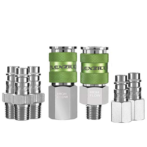 Legacy Manufacturing LEG-A53457FZ 0.25 pulgadas. NPT Flexzilla Pro High Flow Interchange Kit de acoplador y enchufe 44; 3 piezas