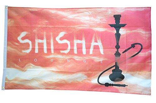 FahnenMax–Bandera de Shisha Lounge + Gratis Pegatinas, Flaggenfritze–Bandera, Hissflagge 90 x 150 cm