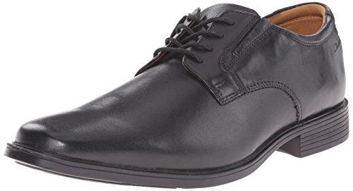 Clarks Men's Tilden Plain Oxford, Black Leather, 10.5 E US