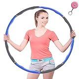 HKBTCH Hula Hoop para la reducción de peso, 6-8 segmentos desmontables, para adultos y niños, con minicinta métrica...