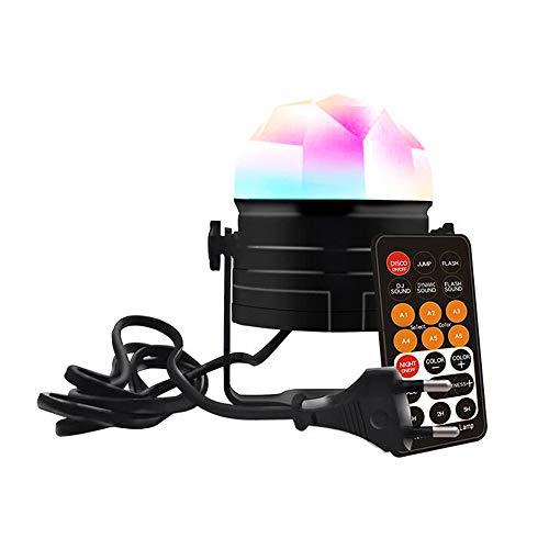 Chriffer Discobal kinderen LED muziekgestuurd partylicht klein met disco lichteffecten nachtlampje voor feestjes, verjaardagsfeesten, karaoke, Kerstmis