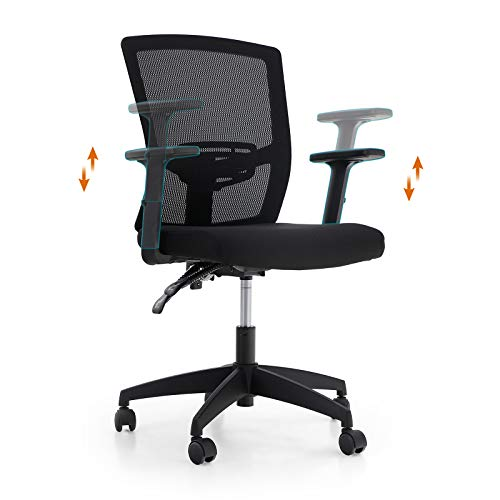 PHI VILLA Office Chair with High Back,Home Office Desk Chairs with Wheels and Armrest for Women,Men,Short People and Heavy People,Max Laod Bearing up to 250 lbs