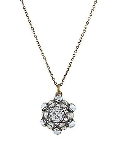 Konplott Halskette Bended Lights Messing Halsschmuck Kristall Collier Damen Mädchen Verführerisches Design