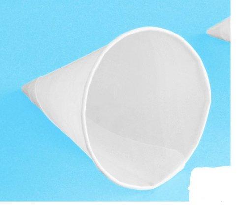 200 Papp Spitzbecher weiß 133 ml Papp-Cone Trinkkegel Ø 7,5 cm Pappbecher