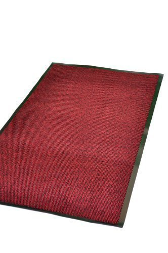 Extra Large Medium Small High Grade Top Quality Non Slip Door Mat Rubber Backed Runner Mats Rugs PVC 7mm thick Non Shedding Indoor / Outdoor Use 4 Colours 5 Sizes Made in EU AAA Grade & Quality Commercial Standard (Red, 120x180cm (4x6'))