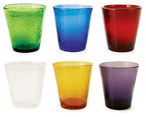 Villa d'Este Cancun Set Bicchieri, Multicolor, 9 cm, 6 unità