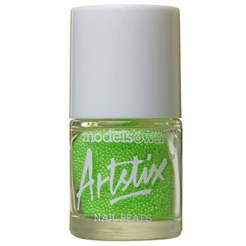 modèles propre Artstix à ongles Perles Vert fluo