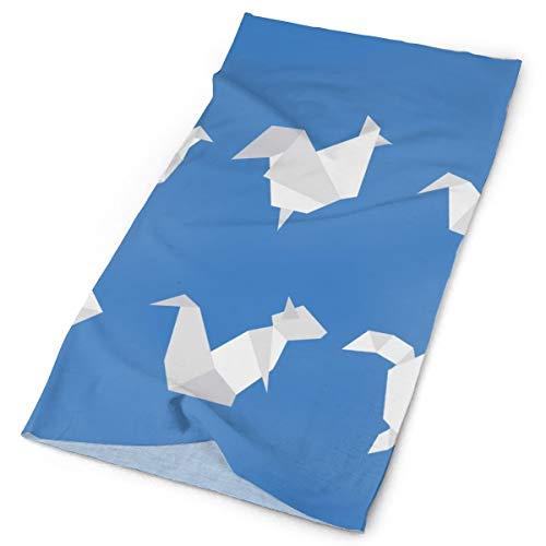 Pengyong - Bufanda de Microfibra para Exteriores, diseño de Animales de Origami, Unisex, de Secado rápido, con Cuello mágico, Bufanda con Capucha, Mango Supersuave