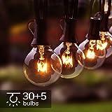 Osaloe Guirlande Lumineuse d'Extérieur et d'Intérieur, Lumières de Cordes de 11 Mètres avec 30+5 Ampoules, Guirlandes Décoratives Etanchede G40 pour Jardin, Fête, Patio, Mariage, Noël