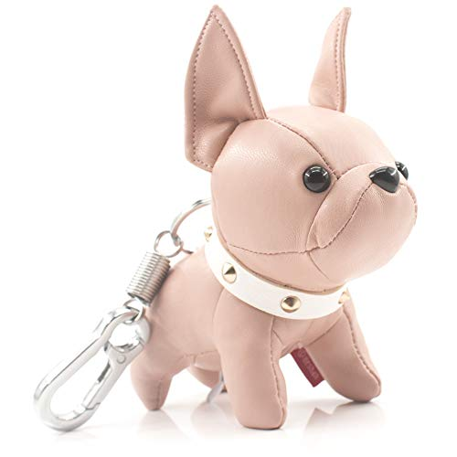 French Bulldog Keychains for Women, SALTY FISH Cute Keychain Accessories for Car Key Chain Ring Bag Charm,Birthday Gifts for Women Men Girls Mom Dad Kids Dog Lover (Pink£