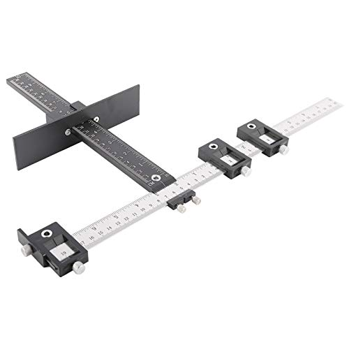 HYDDNice Cabinet Drawer Drilling Template Jig-Door Handles and Knobs Hardware Punch Locator for Easy Installation