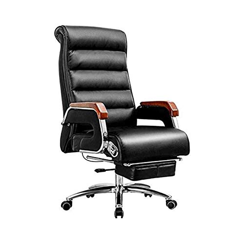 Drehbarer Arbeitsstuhl 360 Grad; Drehbarer Computertischstuhl für das Home Office Verstellbarer Bürostuhl aus PU-Leder Comfotable Ergonomic Manager Work Chair