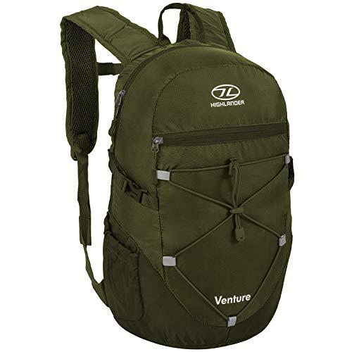 HIGHLANDER Sac à dos unisexe de 20 litres - Sac à dos de randonnée pour homme et femme - The Venture Daypack By Taille unique vert olive