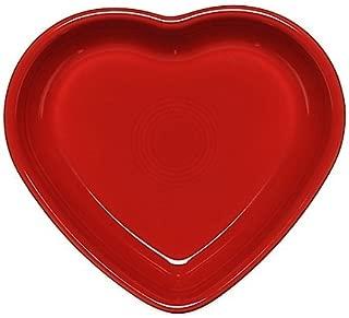 Fiesta Medium Heart Bowl in Scarlet