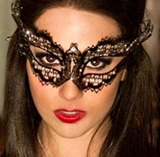 Seven Elements Deluxe Vampire Diaries Laser Cut Venetian Mardi Gras Masquerade Mask with Luxurious Gems - Prom, Parties, Ball, Celebration