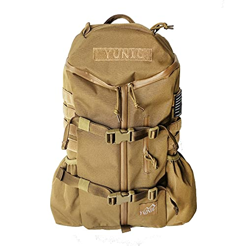 YUNIC Cooler Backpack 26L Insulated Lightweight Tactical Assualt Pack Water and Tear Resistant Large Capacity for Daily and Outdoor Activities (Coyote Tan)