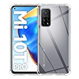 ELYCO für Xiaomi Mi 10T/10T Pro Liquid Hülle, Superdünnes Softschale R&umschutz Anti-Fall Anti-Fingerabdruck TPU Handyhülle Durchsichtige Schutzhülle Hülle für Xiaomi Mi 10T/10T Pro [Transparent]