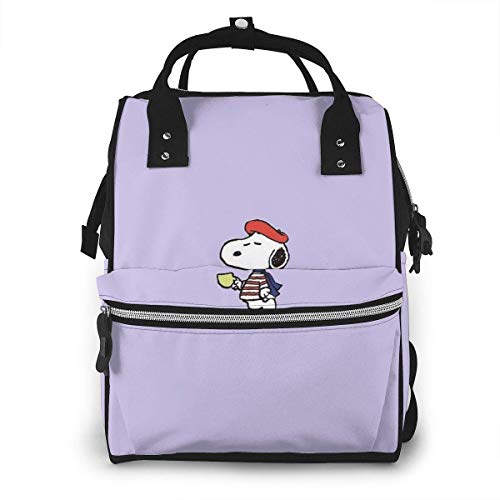 Diaper Bag Backpack - Drinking Snoopy Multifunction Waterproof Travel Backpack Maternity Nappy Changing Bags