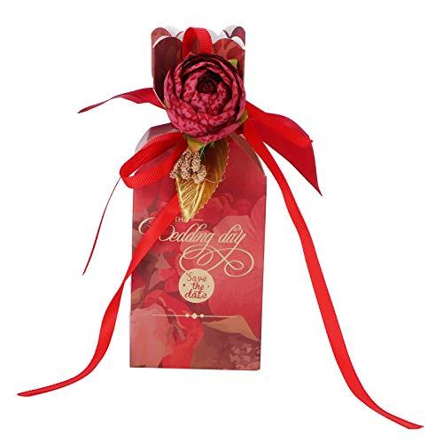 Caixas de biscoitos, caixas de doces resistentes para aniversários para o dia das mães para o dia dos namorados para a festa de aniversário(Vintage flower trumpet)