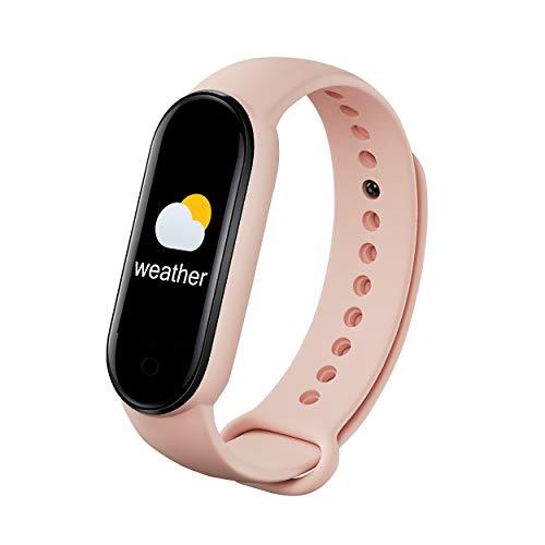 LVYIMAOJ Pulsera deportiva inteligente B30, podómetro, frecuencia cardíaca, monitor de sueño, monitor de presión arterial, Bluetooth, reloj inteligente de 2,4 cm, para hombres y mujeres