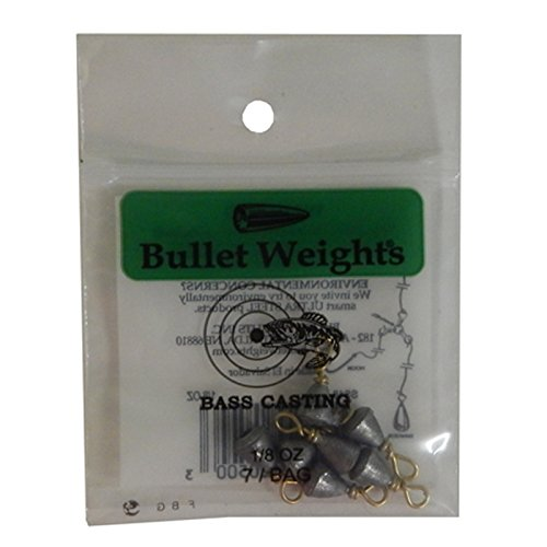 Bullet Weights Bass Casting Sinkers #10-1/8 oz. 7 pc